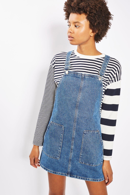 Topshop Womens Petite Pocket Mini Pinafore Dress - Cheap Sale 100% Authentic Classic Sale Online Sale New Arrival Factory Outlet Cheap Online Clearance Original ZjPme