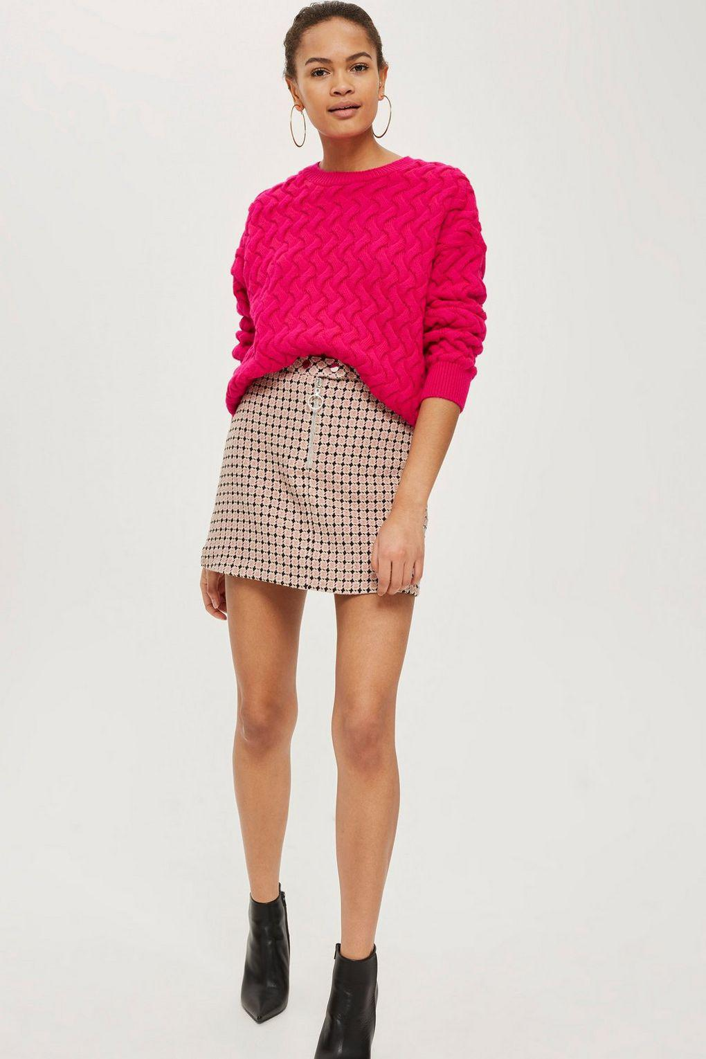 Topshop Womens Pretty Geometric Print Jacquard Mini Skirt - Outlet Pay With Visa Unisex Quality Outlet Store nF9Fkm