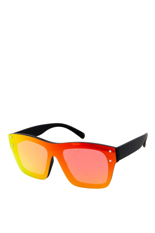 393f4cc25d34bf Lyst - Lunettes de soleil masque à monture percée Matrix TOPSHOP en ...