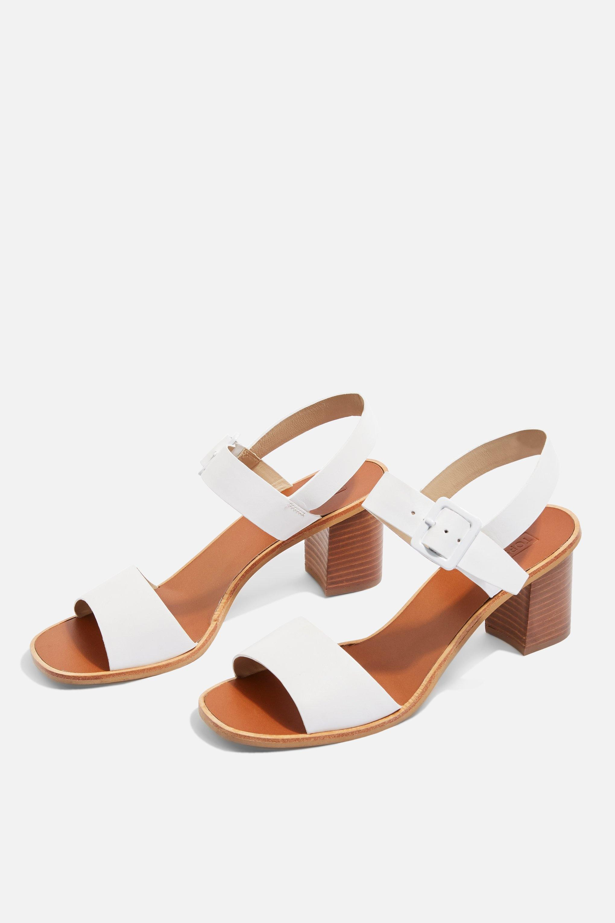 29f07adc2bbb Lyst - TOPSHOP Nancy Two Part Sandals in White - Save 53%