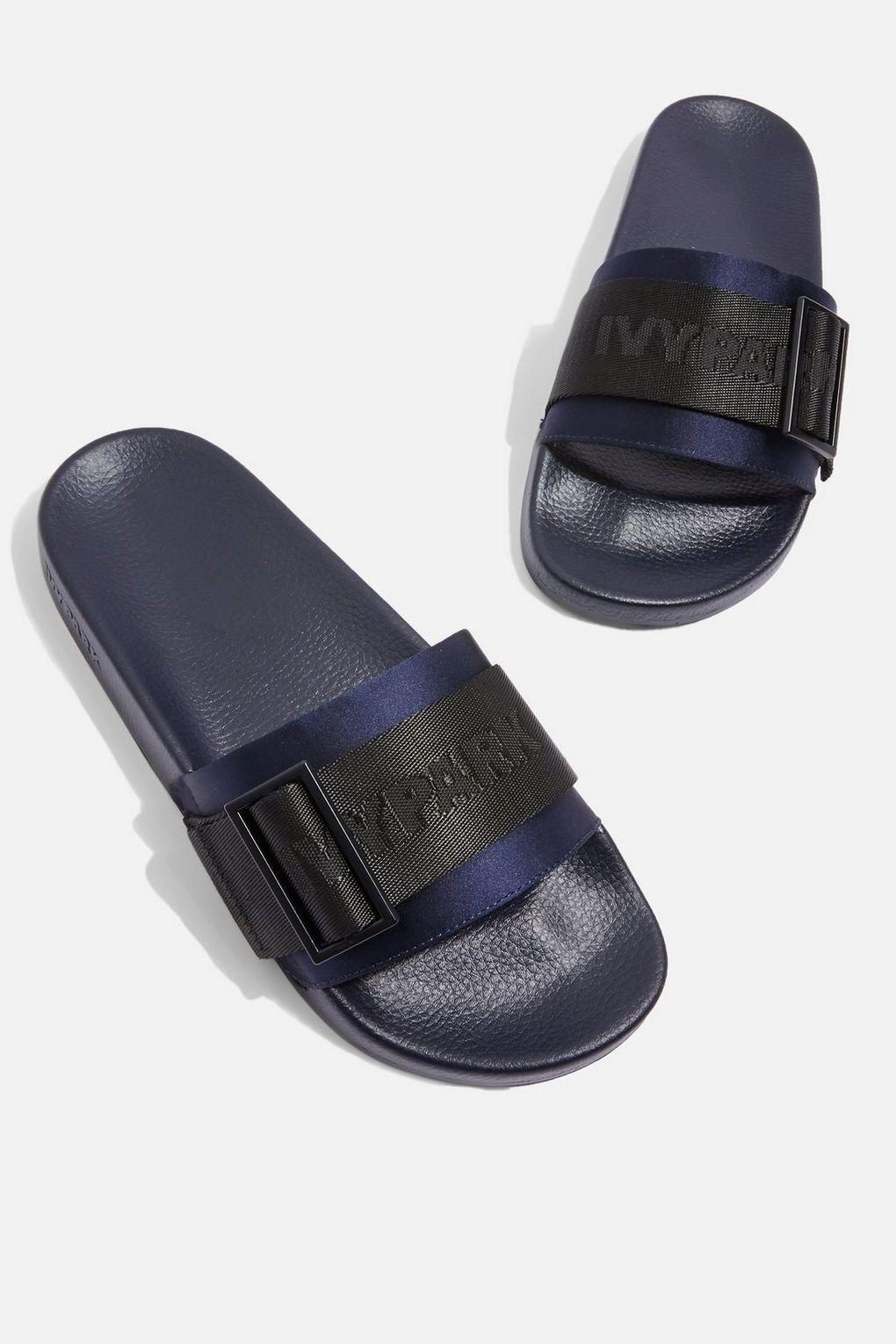 b0a613a48 Lyst - Ivy Park High Shine Sliders By in Blue