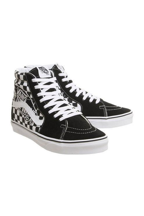 f5c9719162ce Vans sk8 Hi Trainers By Office in Black - Lyst