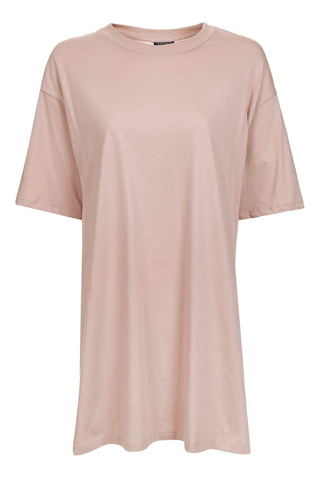Lyst topshop petite boyfriend t shirt tunic for Womens denim shirts topshop