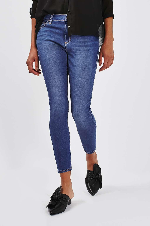 topshop petite blue leigh jeans in blue lyst. Black Bedroom Furniture Sets. Home Design Ideas