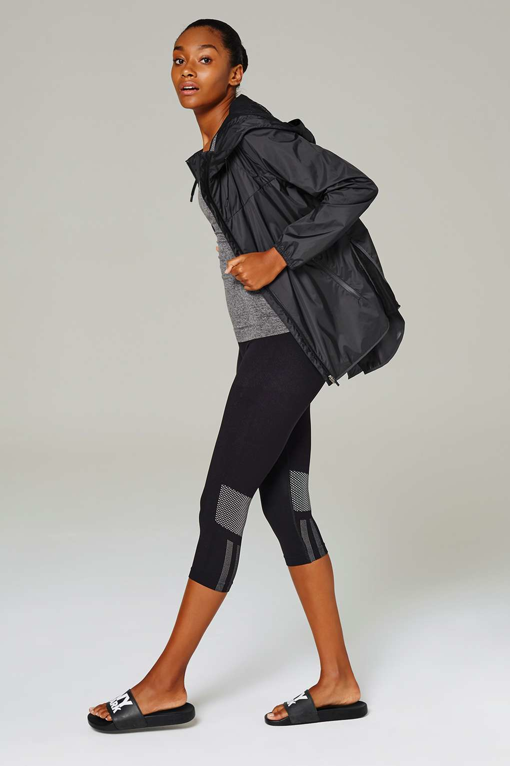 13ce7d57cdfa9 Lyst - Ivy Park Long Sleeve Wrap Back Jacket By Ivy Park in Gray