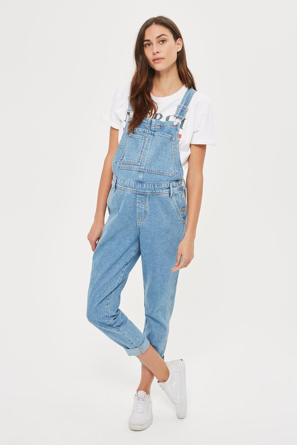 9588888a9bf5f TOPSHOP Maternity Stone Wash Dungarees in Blue - Lyst