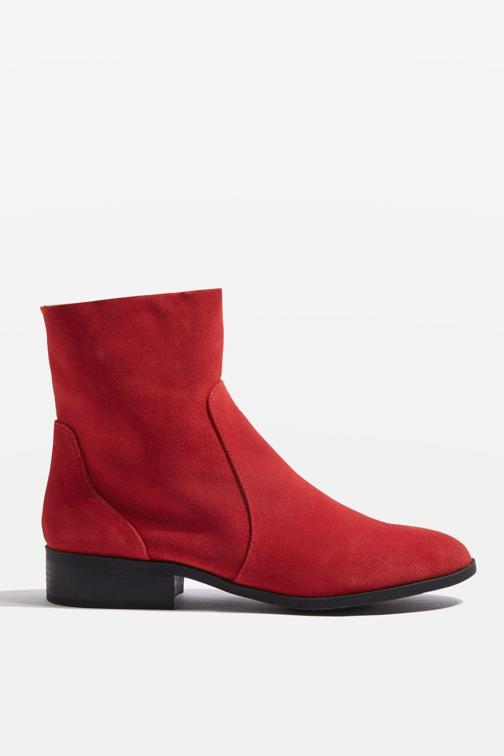 Topshop Red Soft Leather Shoes