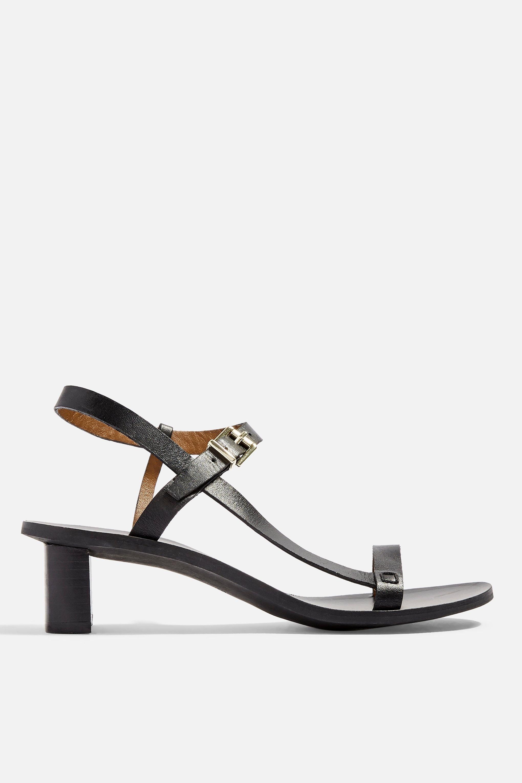 d677cf972 TOPSHOP - Black Venus Asymmetric Sandals - Lyst. View fullscreen