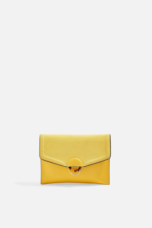 Lyst - TOPSHOP Cairo Clutch Bag in Yellow bceefe77ada39