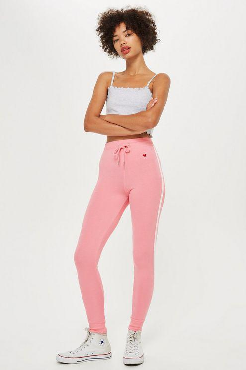 b2116817d1e916 Topshop Slim Joggers With Side Stripe in Pink - Lyst