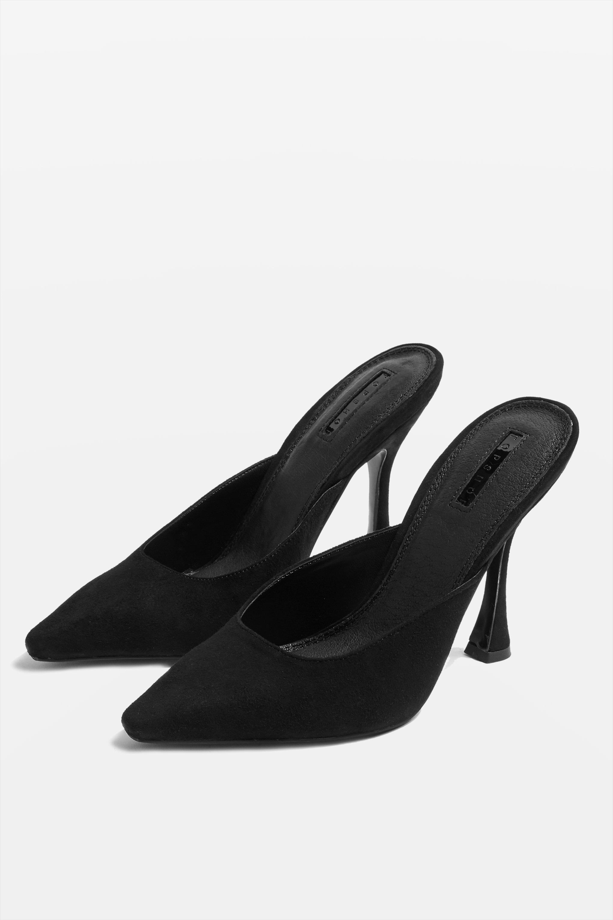 18b281db678 Lyst - Topshop Gloss Pointed Mules in Black