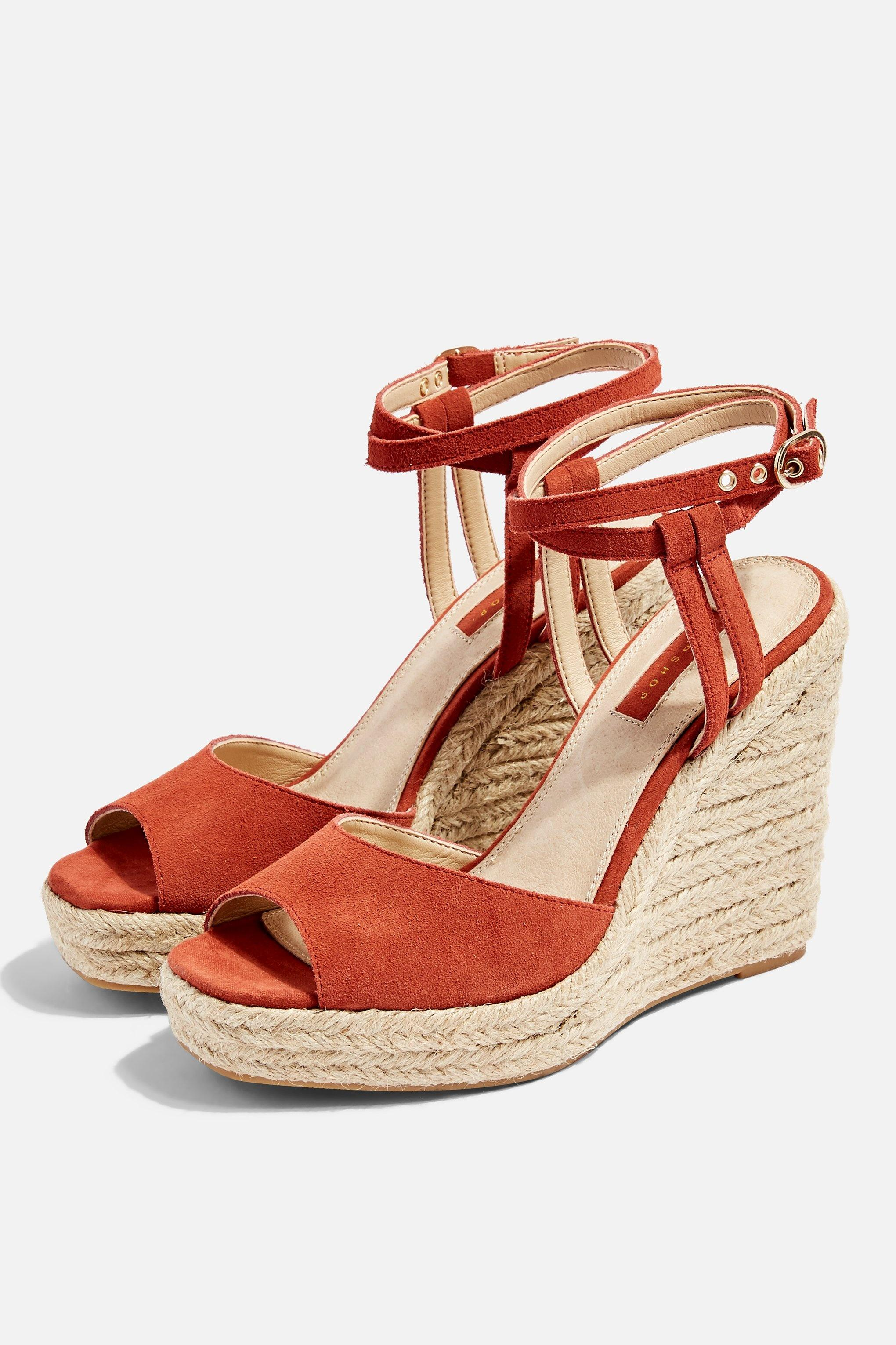 919538762d Lyst - TOPSHOP Whitney Rust Espadrille Wedges