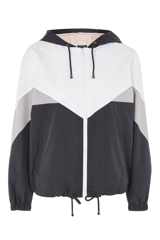 Topshop Colour Block Windbreaker Jacket