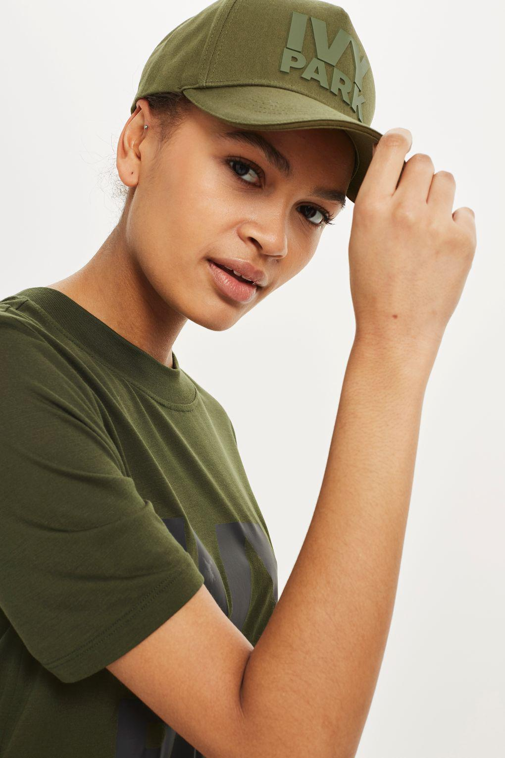 9a0bb483946b8 Ivy Park Silicon Logo Cap By in Green - Lyst