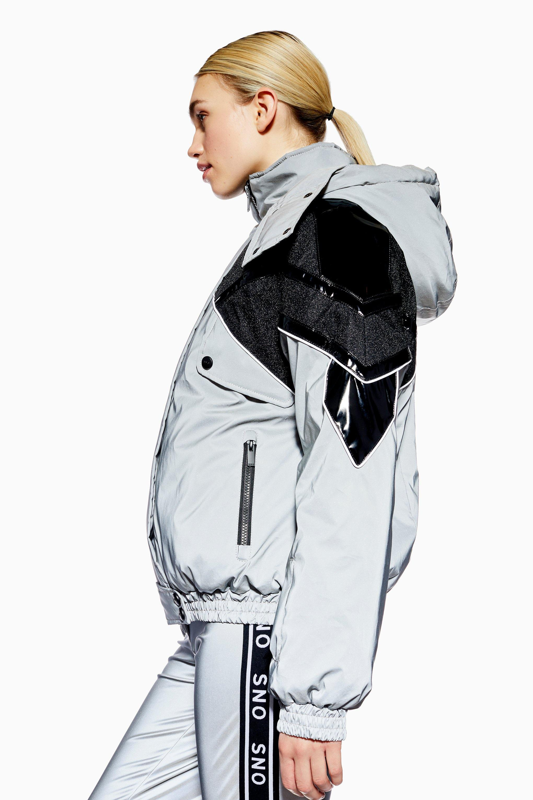 4473c0c6665e TOPSHOP reflective Jacket By Sno in Metallic - Save 72% - Lyst