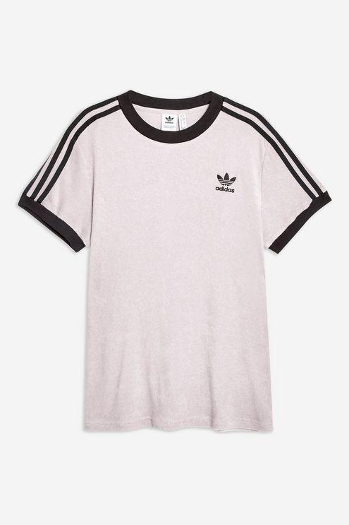 67b94b3ee52 Adidas - Gray Towelling Three Stripe T-shirt By - Lyst. View fullscreen