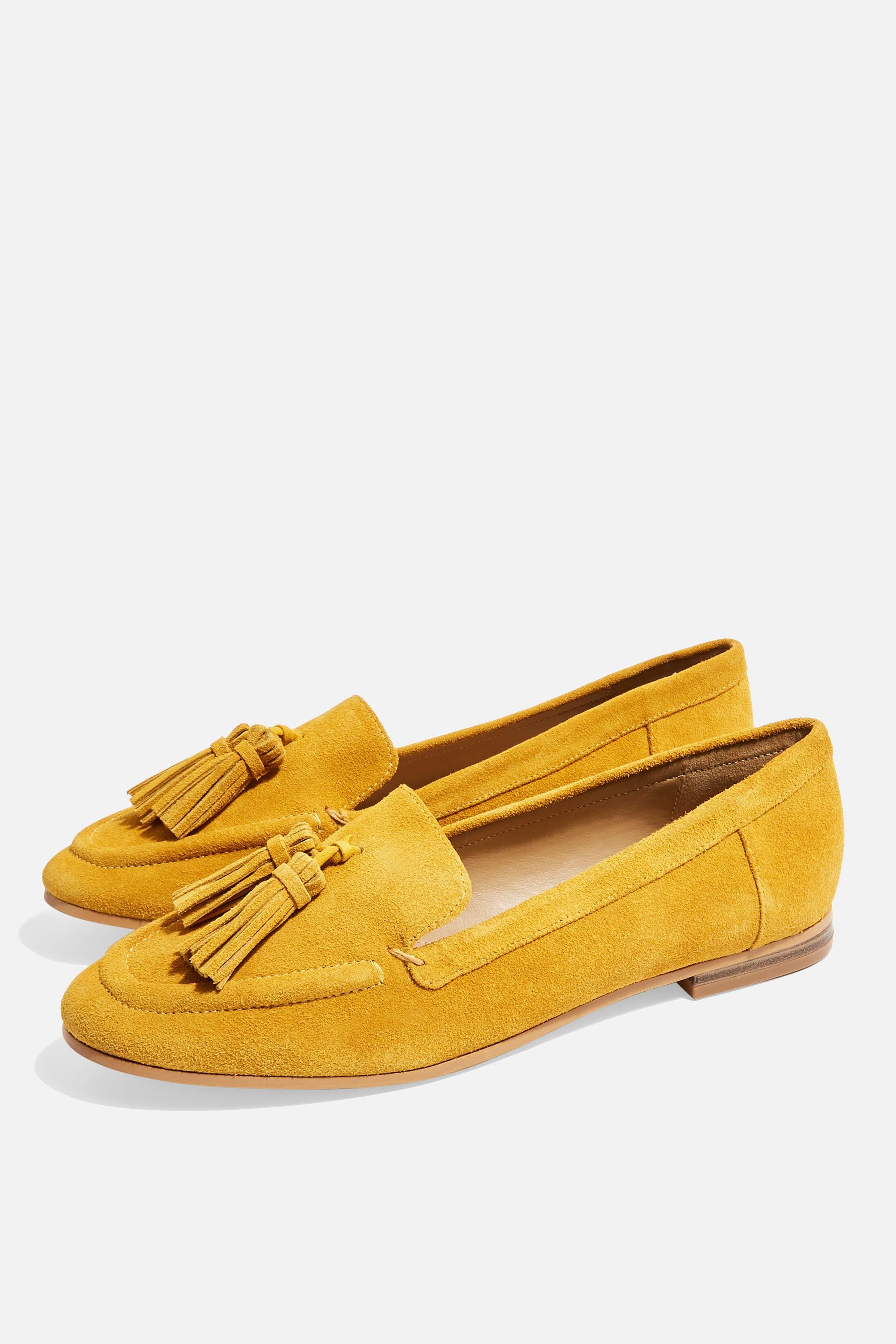 Lexi Suede Lyst Topshop In Loafers Yellow 5H5EwBrq
