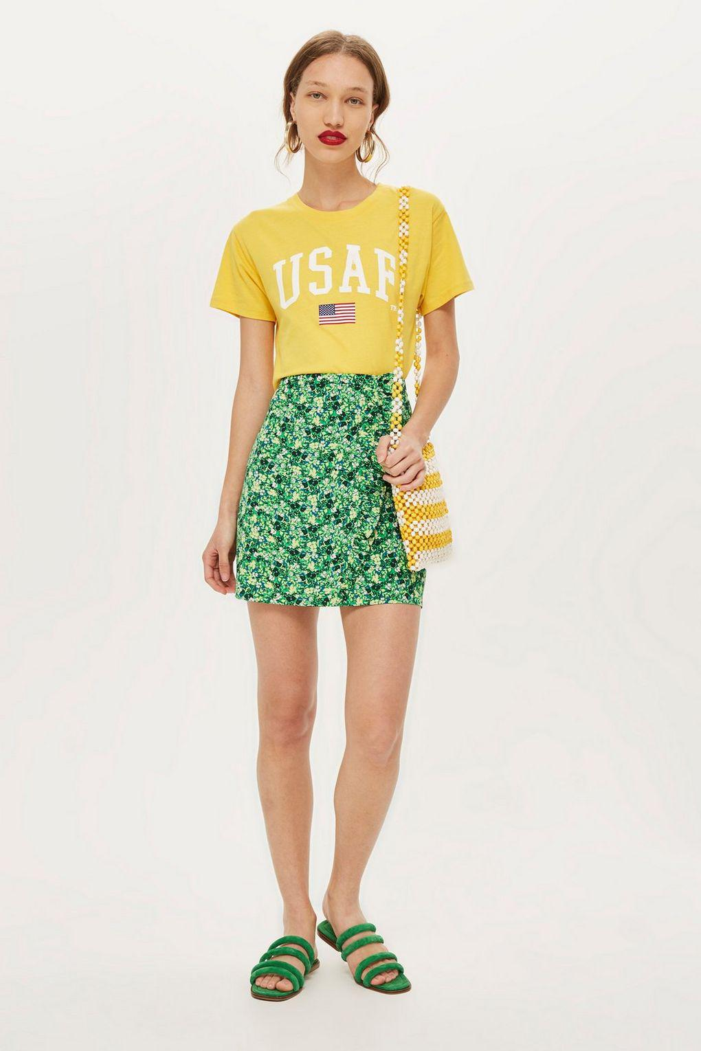 Topshop Womens Tall Meadow Ruffle Mini Skirt - Shop For Sale Online Cheap Sale Latest Outlet Pay With Visa Enjoy For Sale iCAUlh