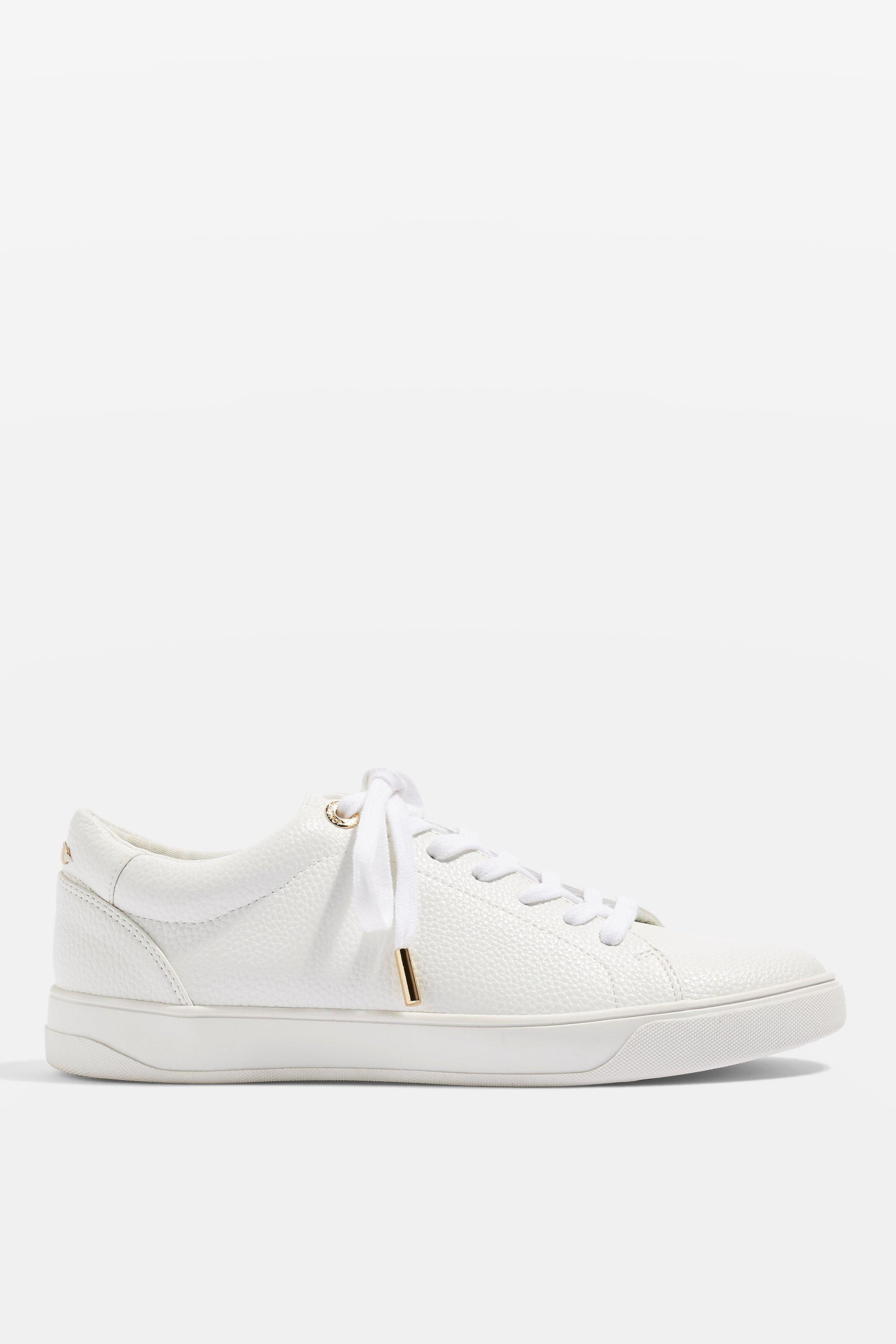 072134e8eb03 TOPSHOP - White Candy Lace Up Trainers - Lyst. View fullscreen