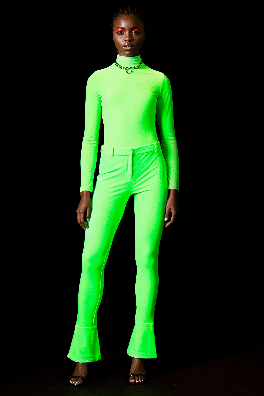 c5fd9e8d105 Lyst - TOPSHOP velvet Bodysuit By X Halpern in Green