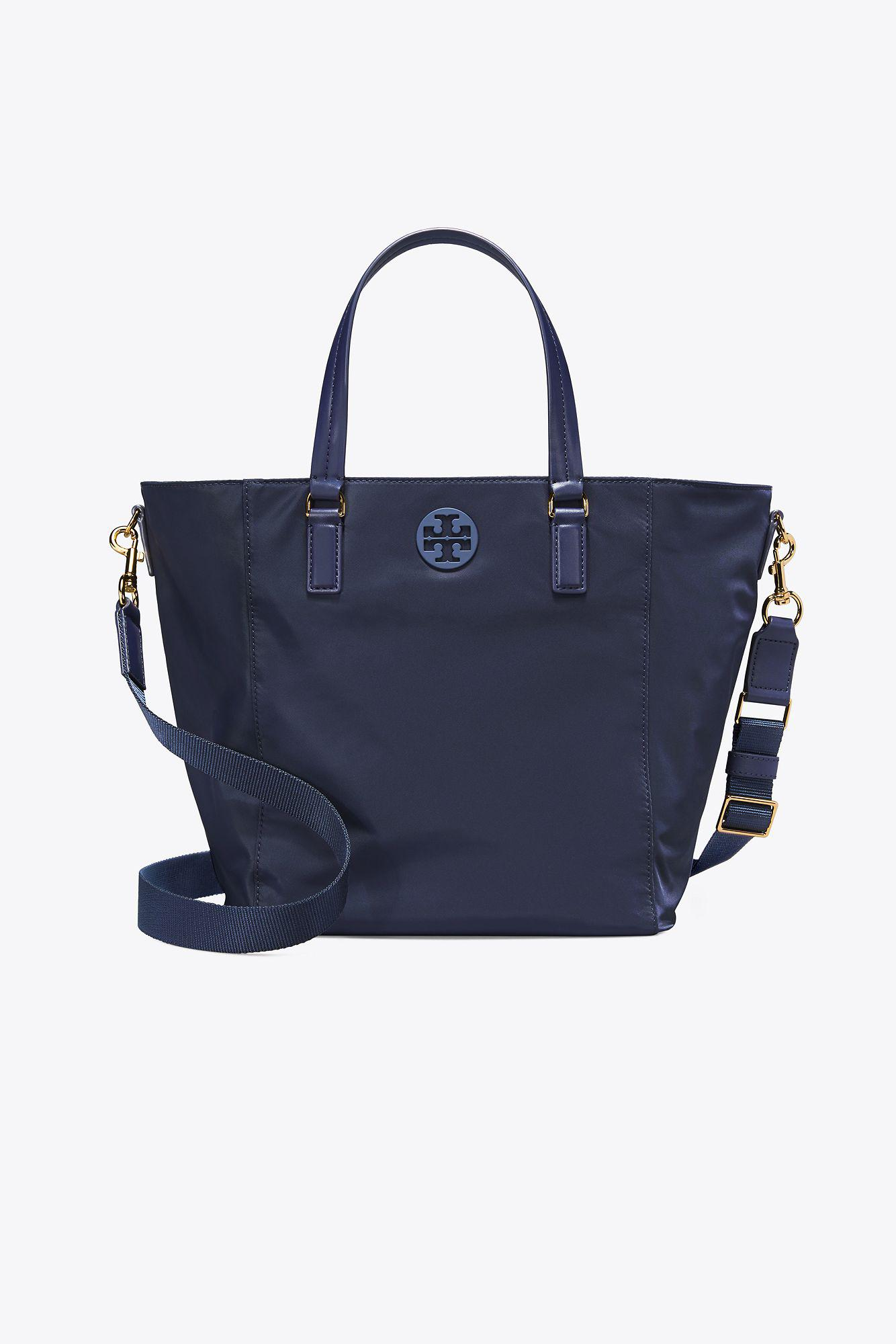 fcceb5808bb2 Tory Burch Tilda Nylon Small Tote in Blue - Save 23% - Lyst