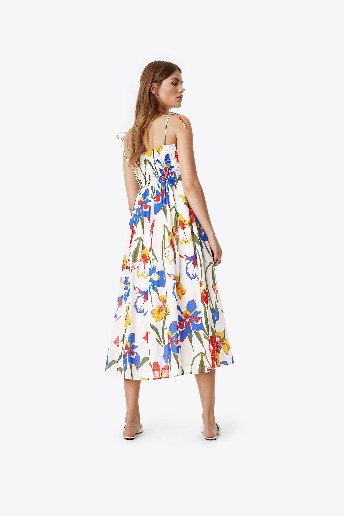ac72562e03 Tory Burch Convertible Iris Beach Dress in White - Lyst