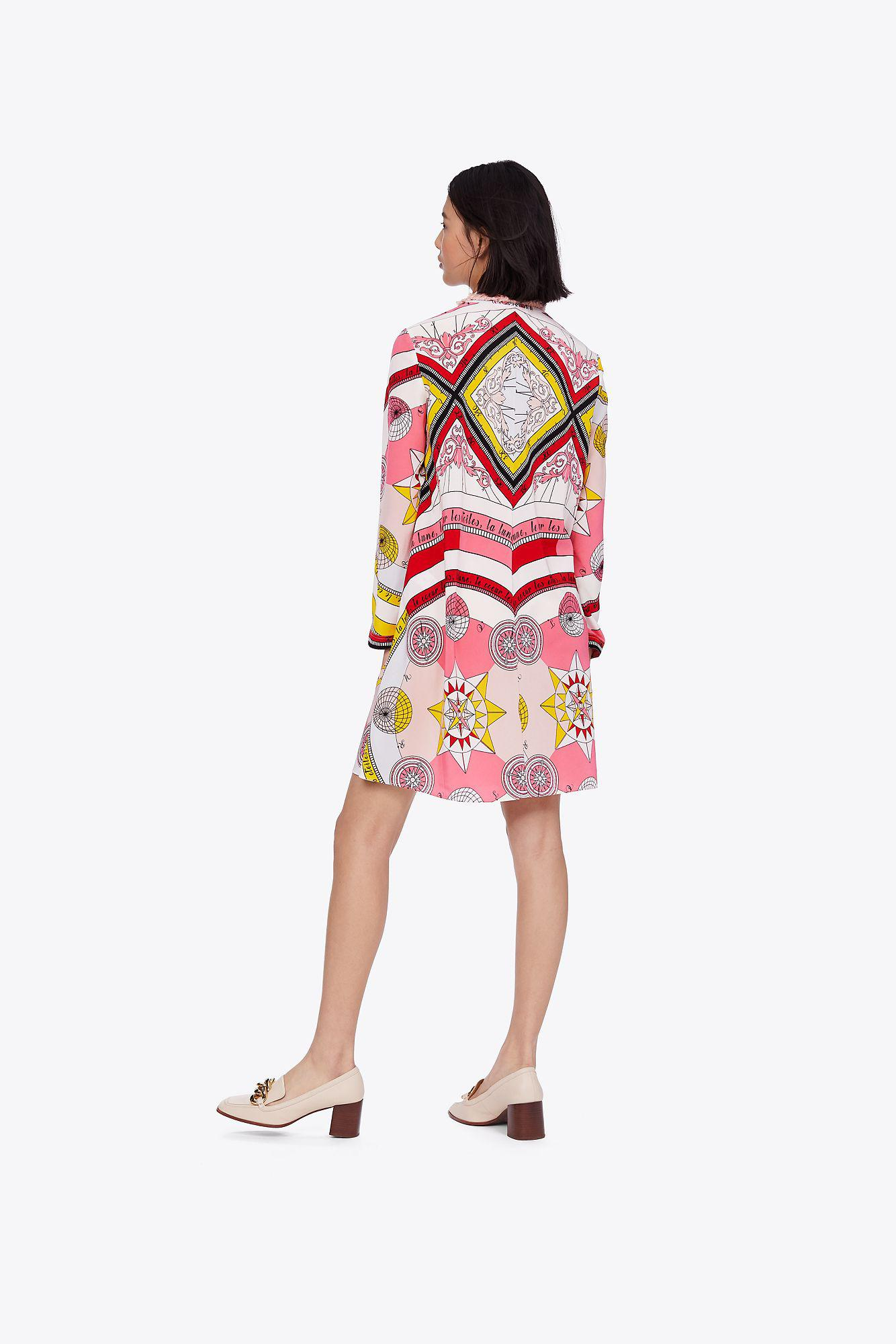 ed7b2e8d87e Tory Burch - Pink Printed Tie Dress - Lyst. View fullscreen
