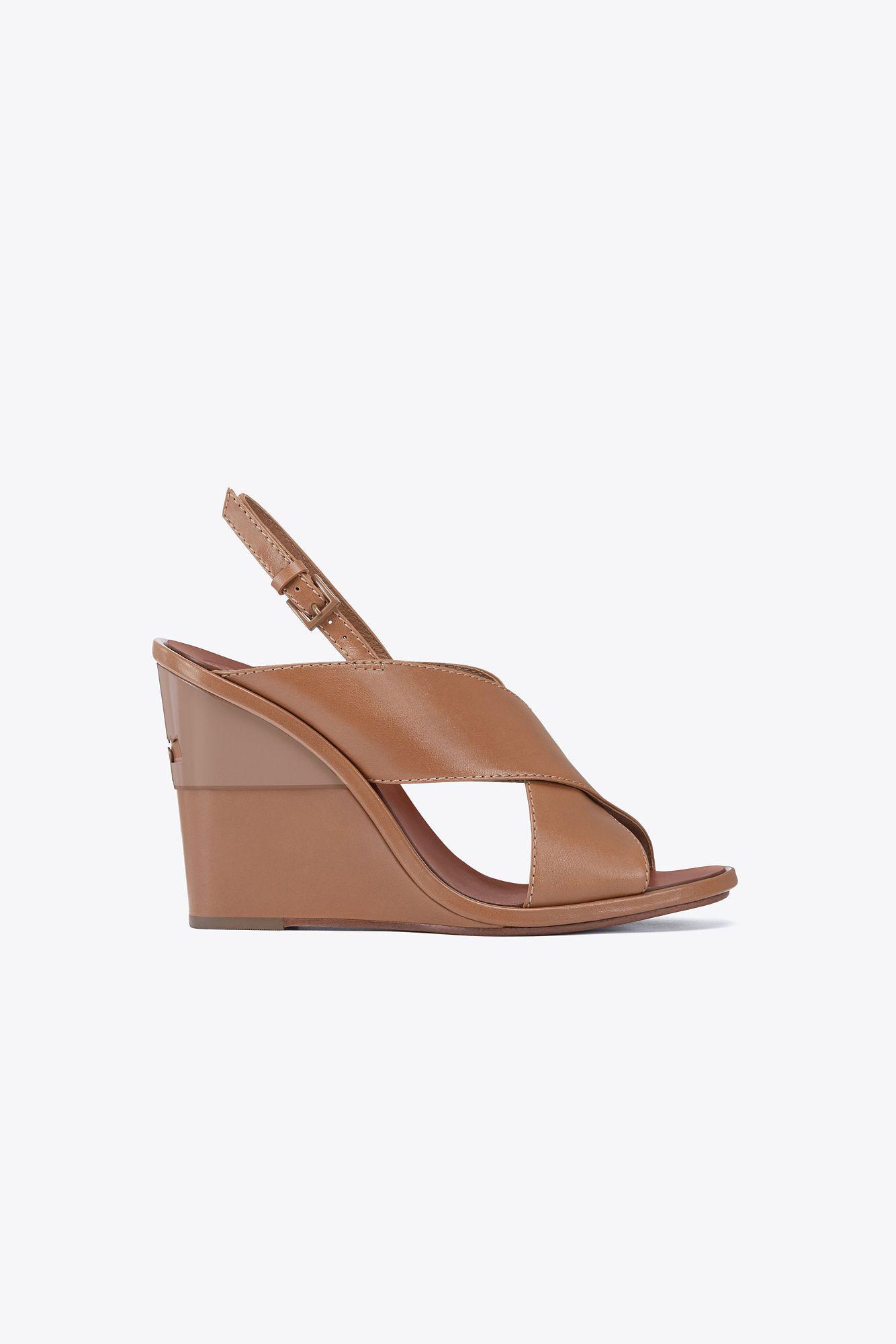 412badb60 Lyst - Tory Burch Gabrielle Wedge Sandal in Brown