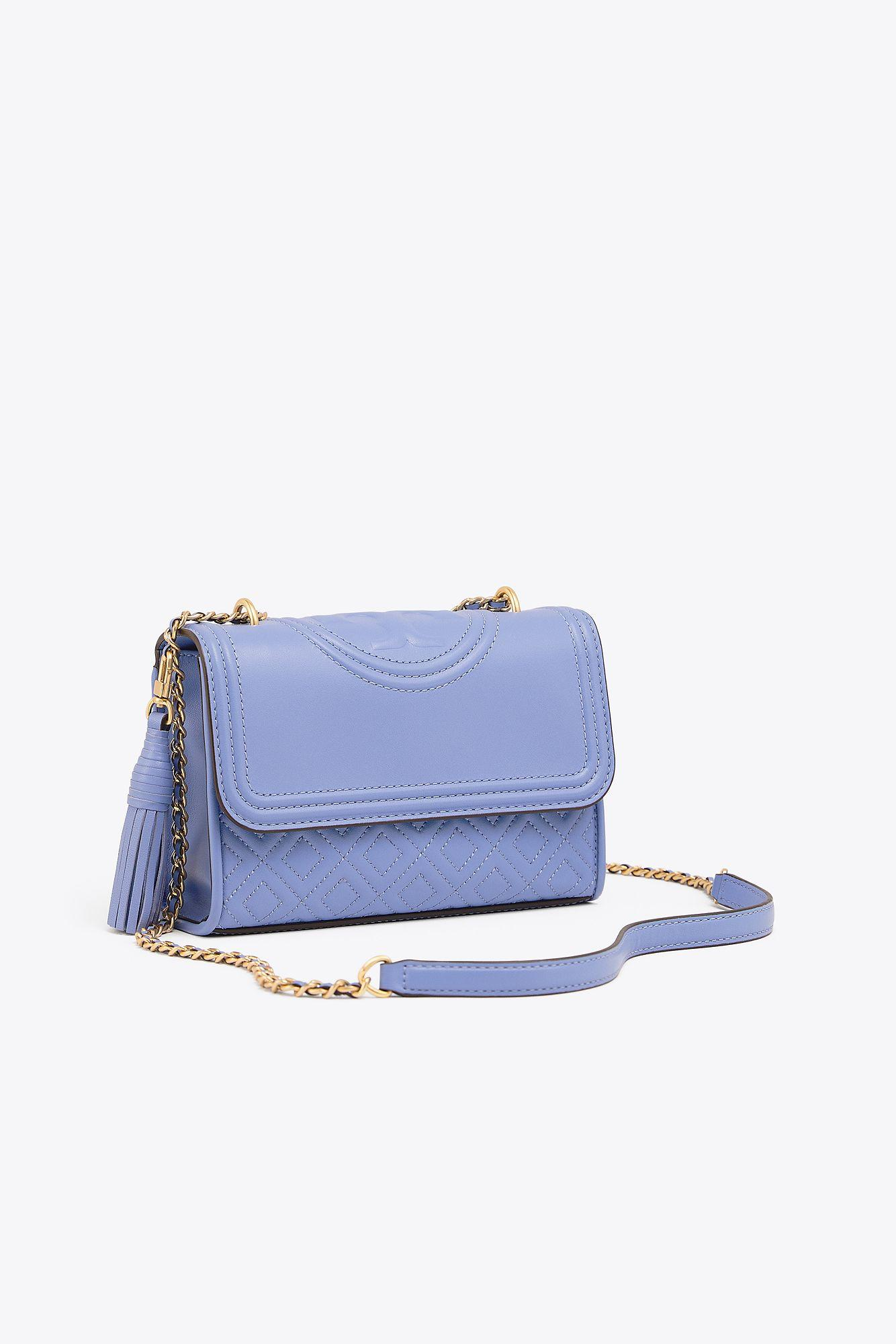 4d6af2197be0 Lyst - Tory Burch Fleming Small Convertible Shoulder Bag in Blue