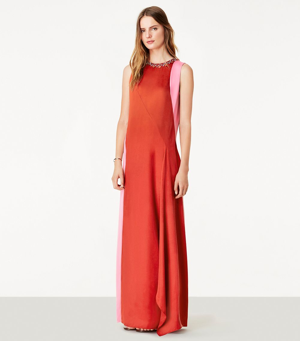 Lyst - Tory Burch Courtney Gown in Red