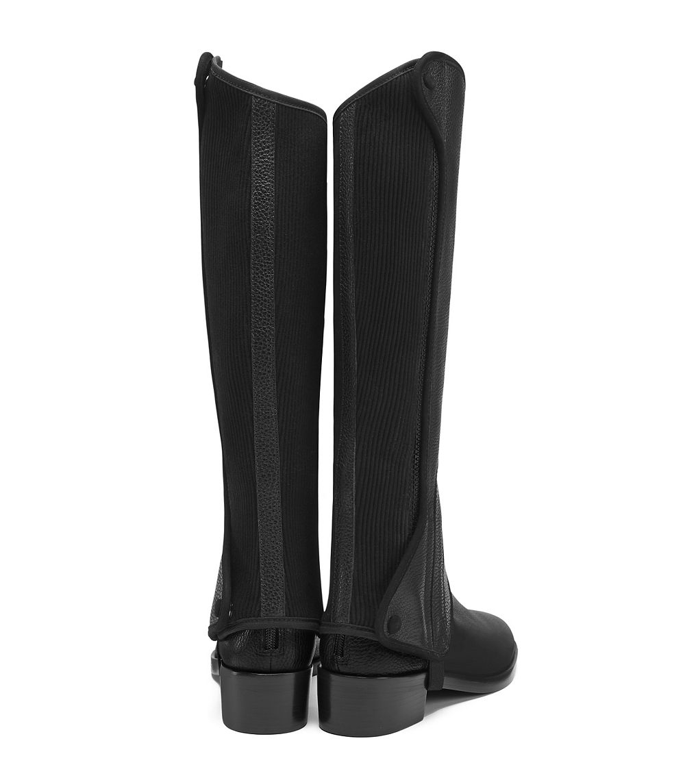 c7161af17a9e Lyst - Tory Burch Milburn Leather and Suede Riding Boots in Black