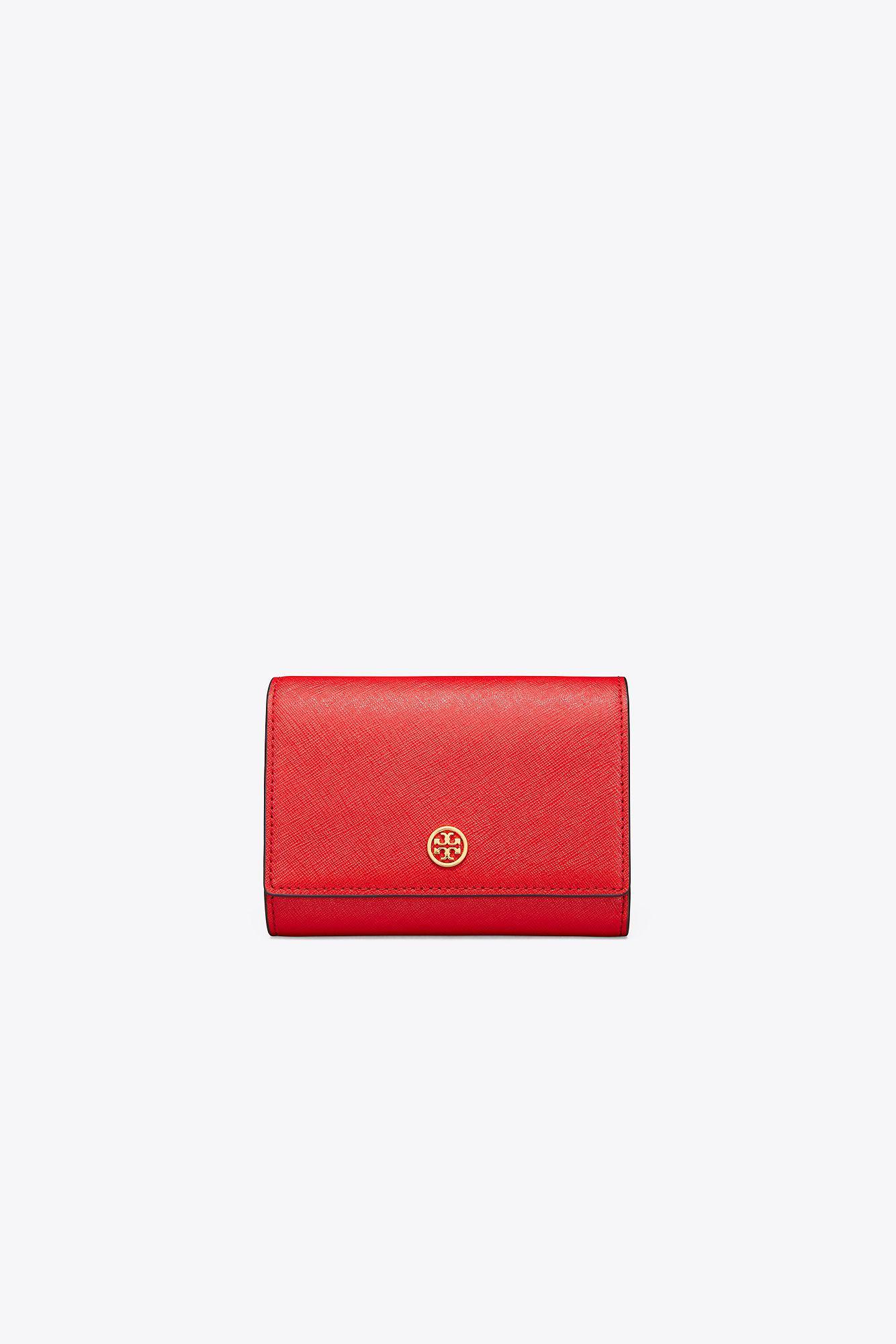 3d91f149a12e Lyst - Tory Burch Robinson Medium Wallet in Red