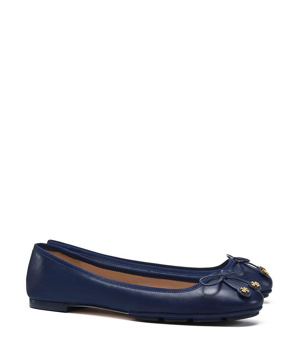 5ce8d1040c7 Lyst - Tory Burch Laila Driver Ballet Flat in Blue