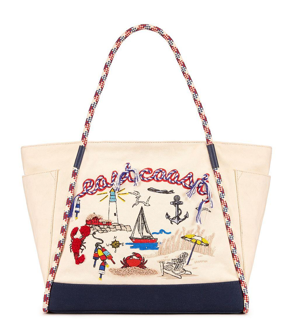 59dbe4cc10c Lyst - Tory Burch Nautical Canvas Tote