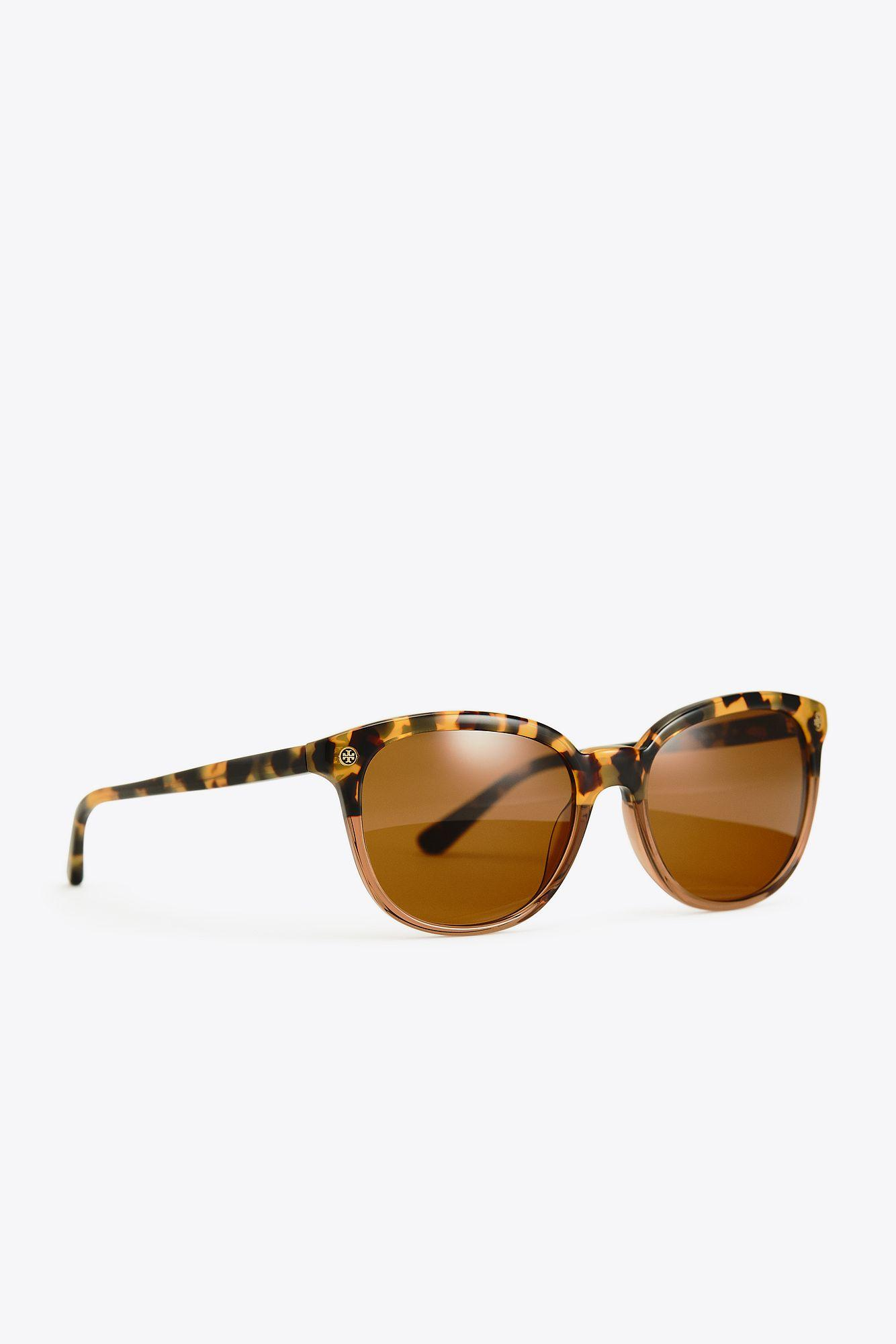 9086faf14bea Lyst - Tory Burch Vintage Petite Square | 001 | Sunglasses in Brown