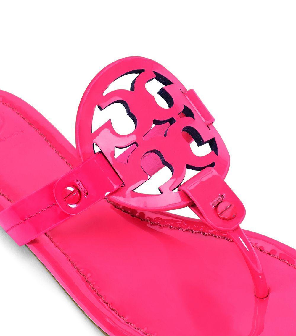 81f1b5f9a3032 Lyst - Tory Burch Miller Fluorescent Sandal