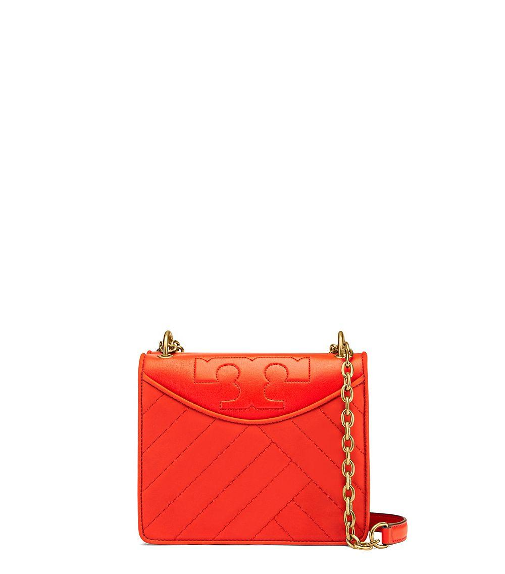 tory burch alexa suede convertible mini shoulder bag in red