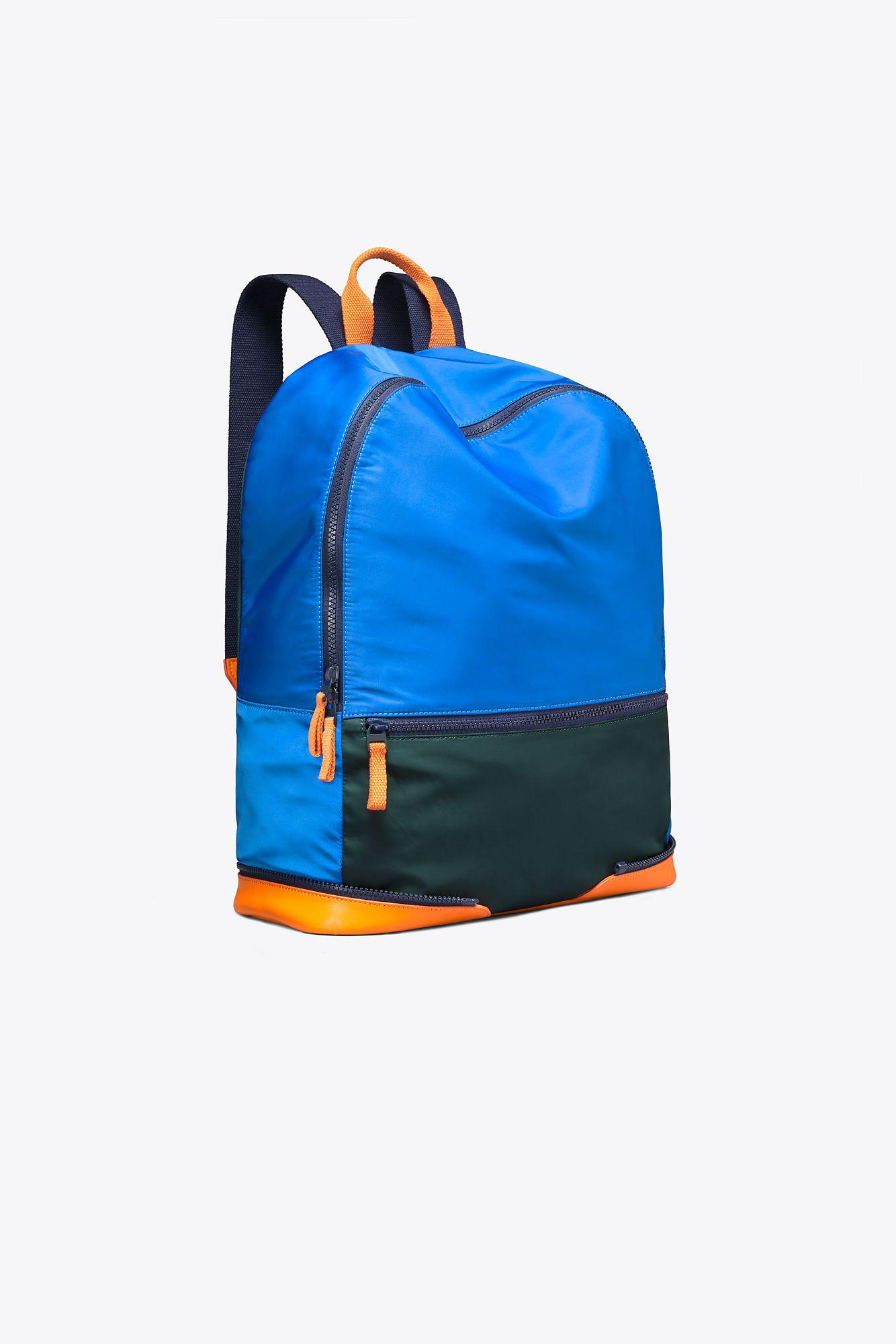 507cc0002ec Lyst - Tory Sport Tory Burch Color-block Packable Backpack in Blue