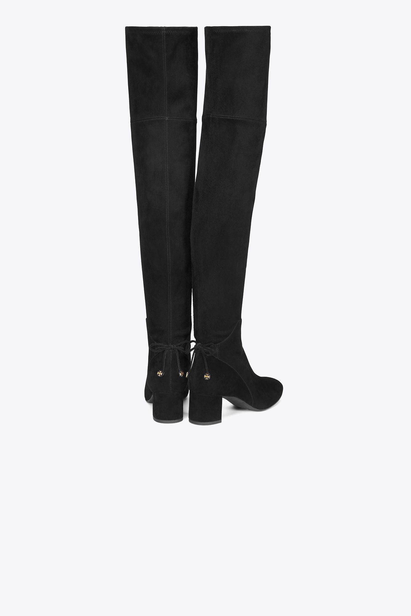 e01b28a69ffe Lyst - Tory Burch Laila 45mm Over-the-knee Boots in Black