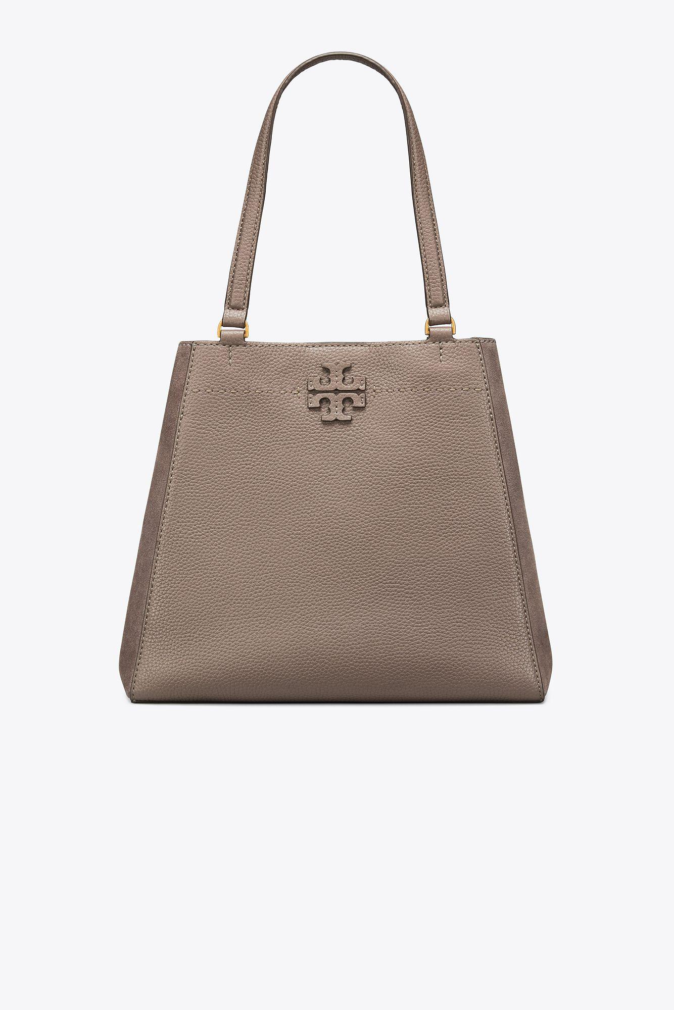 677af8362859 Tory Burch Mcgraw Mixed-materials Carryall in Brown - Lyst