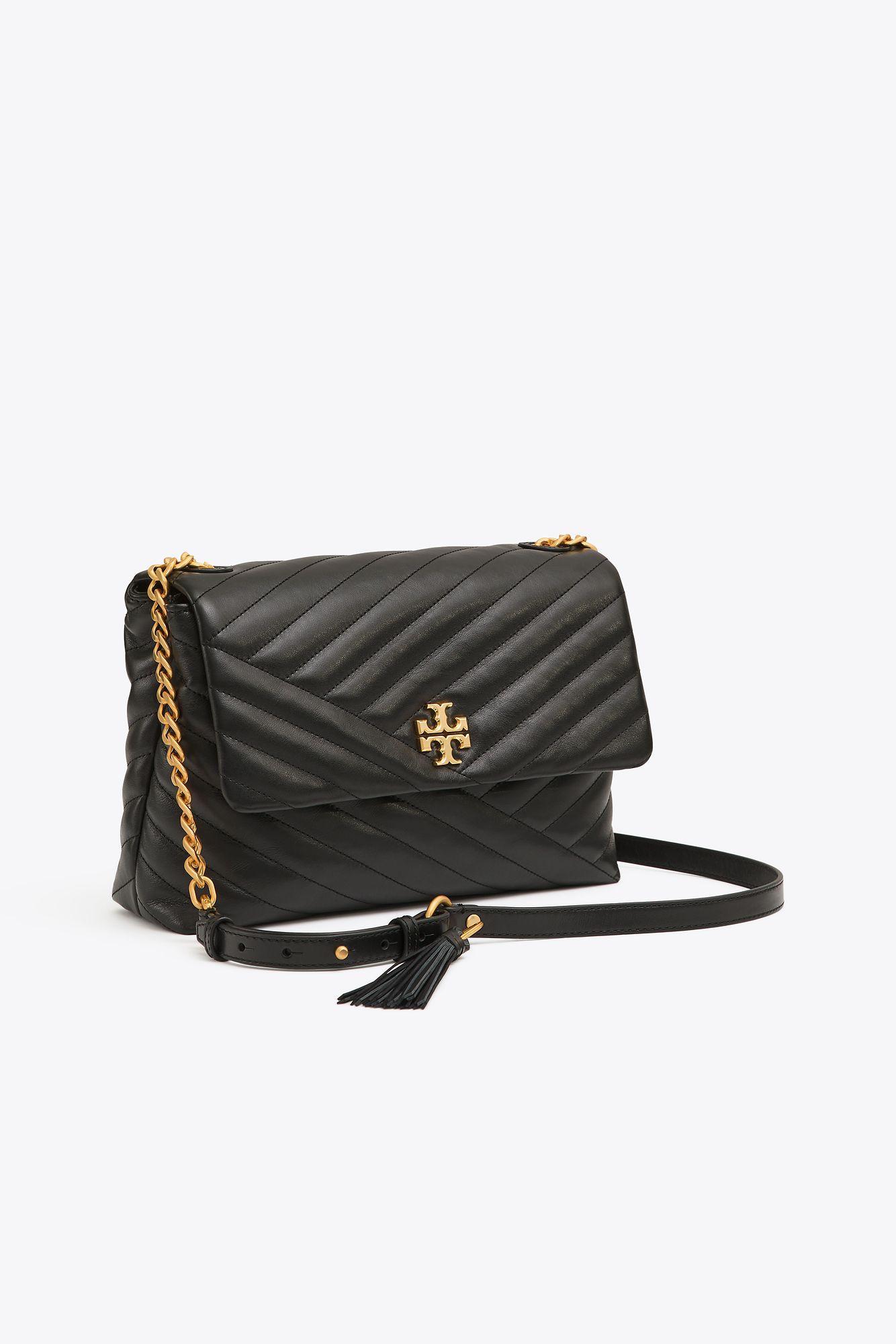 c315f9e88255 Tory Burch Kira Chevron Flap Shoulder Bag in Black - Save 18% - Lyst