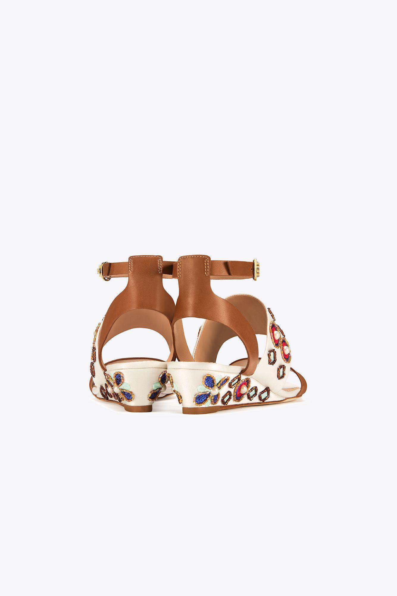 80900acf906 Lyst - Tory Burch Estella Wedge Sandal