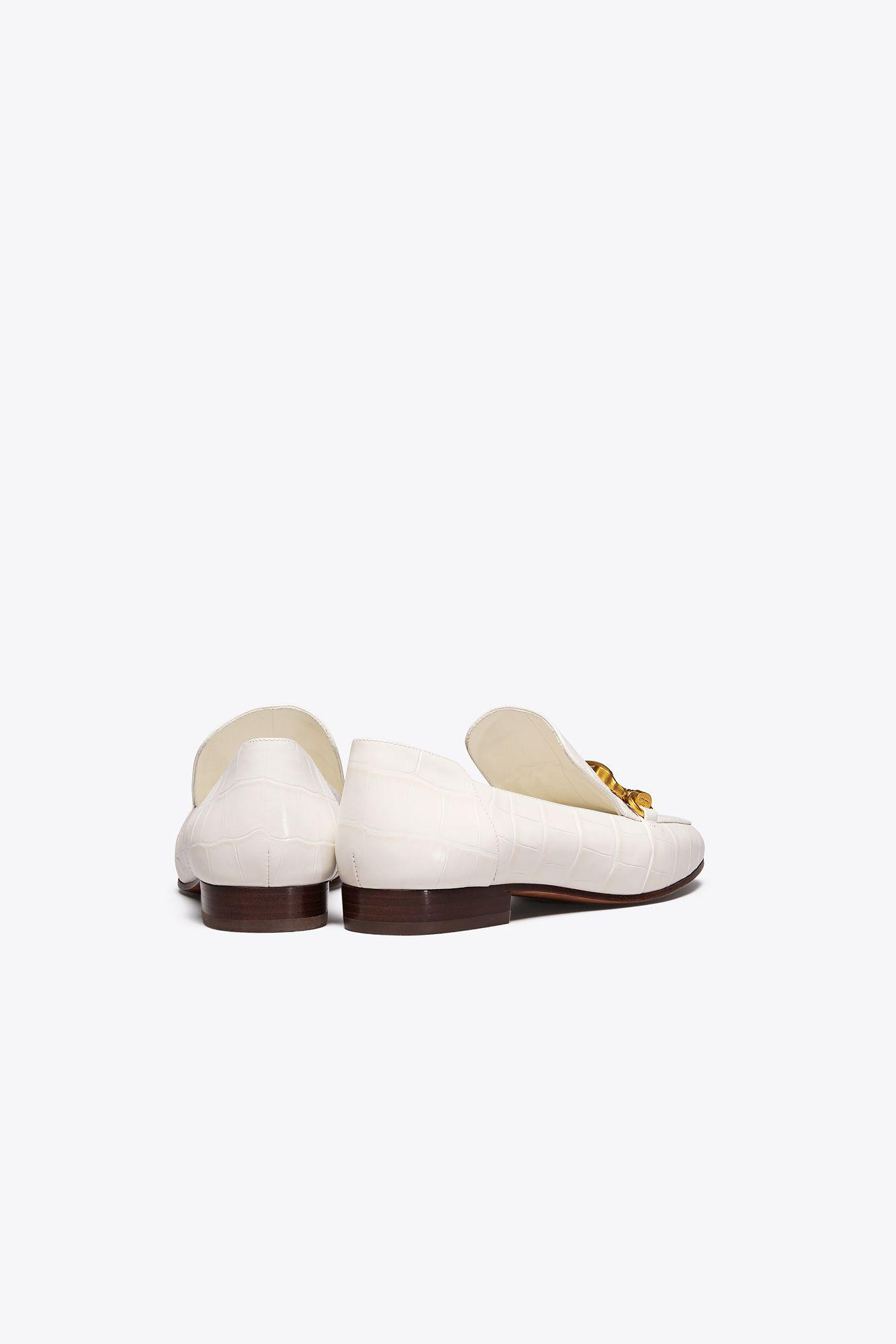 1f19a57f8a6 Lyst - Tory Burch Jessa Horse-hardware Loafer in White