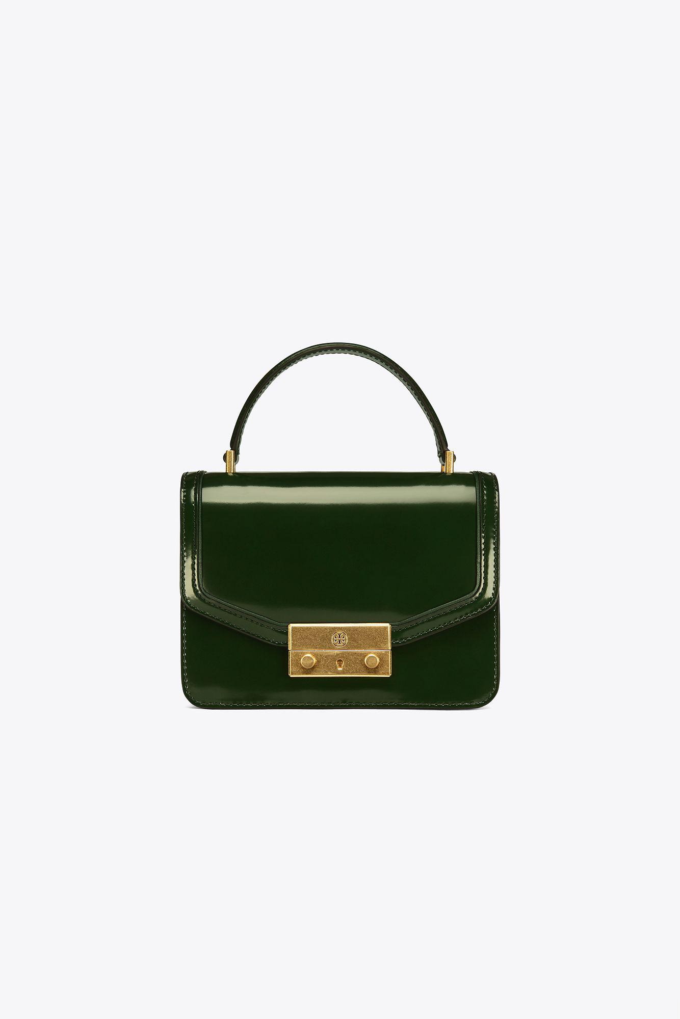 9742578a3c3 Tory Burch Juliette Mini Top-handle Satchel in Green - Lyst