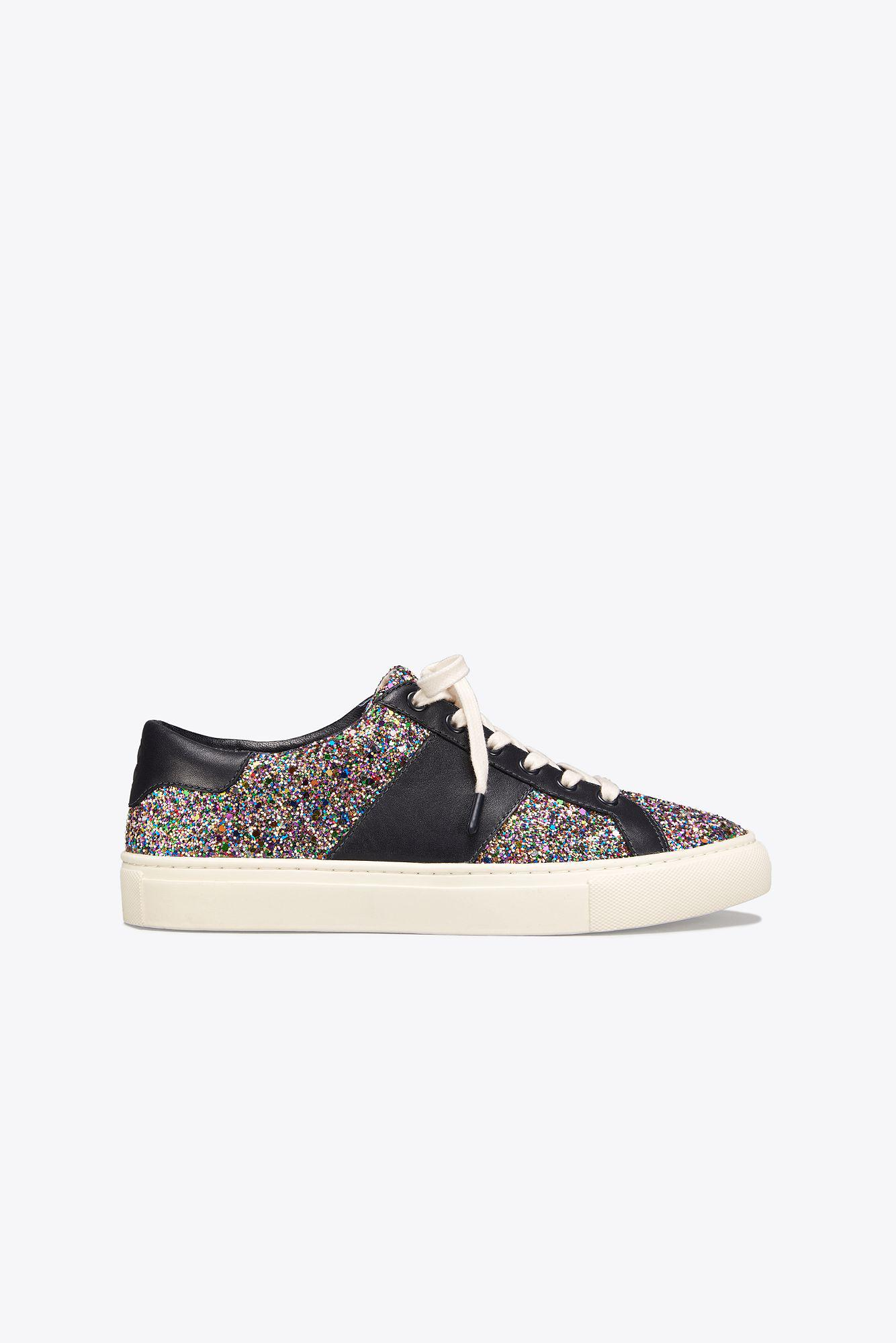 f0e4a5f12 Tory Burch. Women s Carter Confetti-glitter Lace-up Sneaker