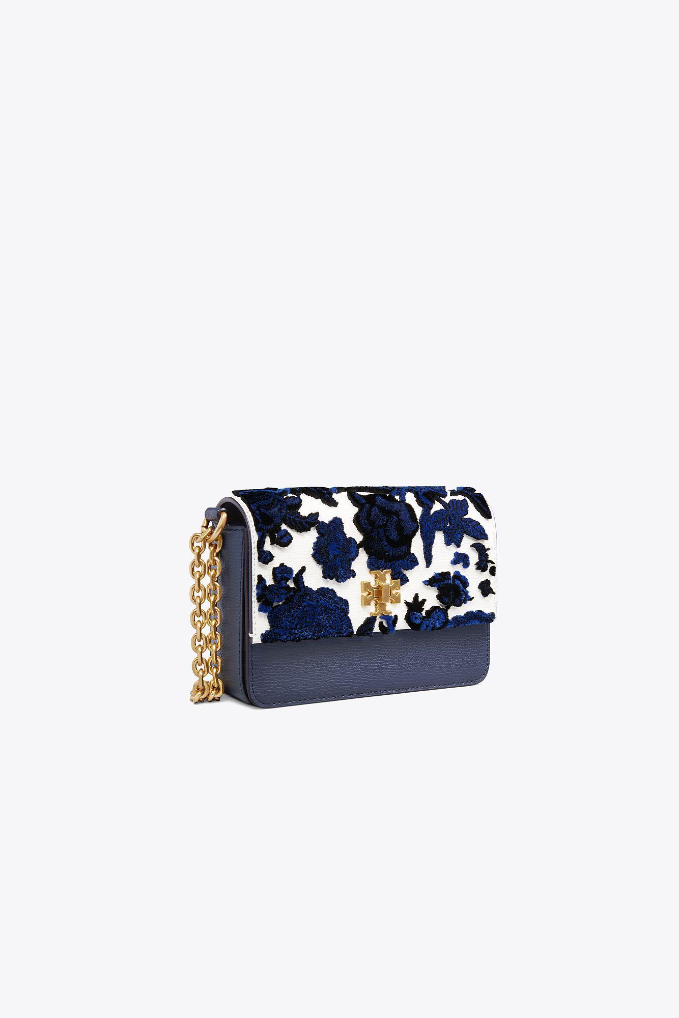08025b1e4e1 Tory Burch - Blue Kira Fil Coupe Mini Leather   Velvet Convertible Shoulder  Bag - Lyst. View fullscreen