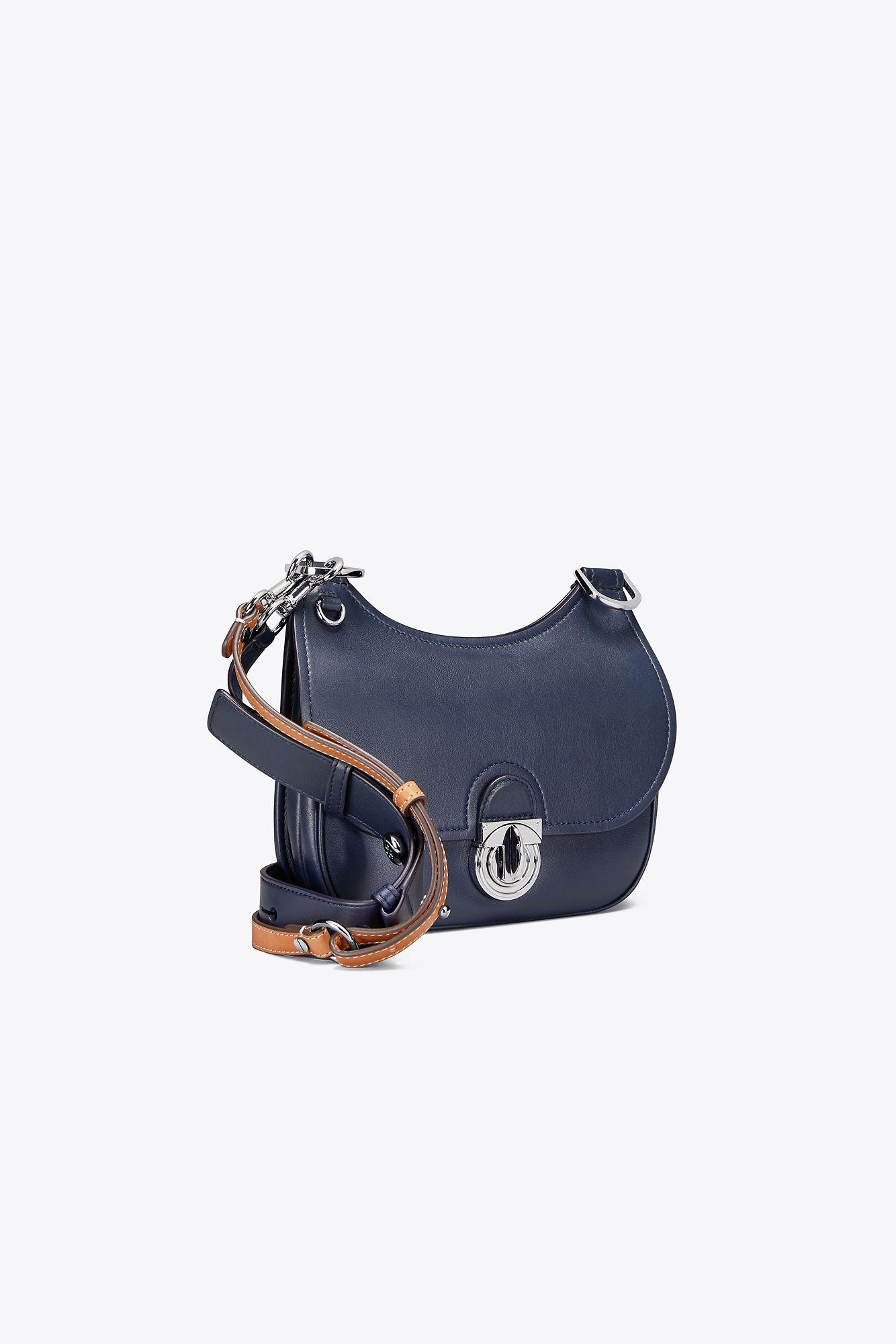 876a9287c7c5 Lyst - Tory Burch James Small Saddlebag in Blue
