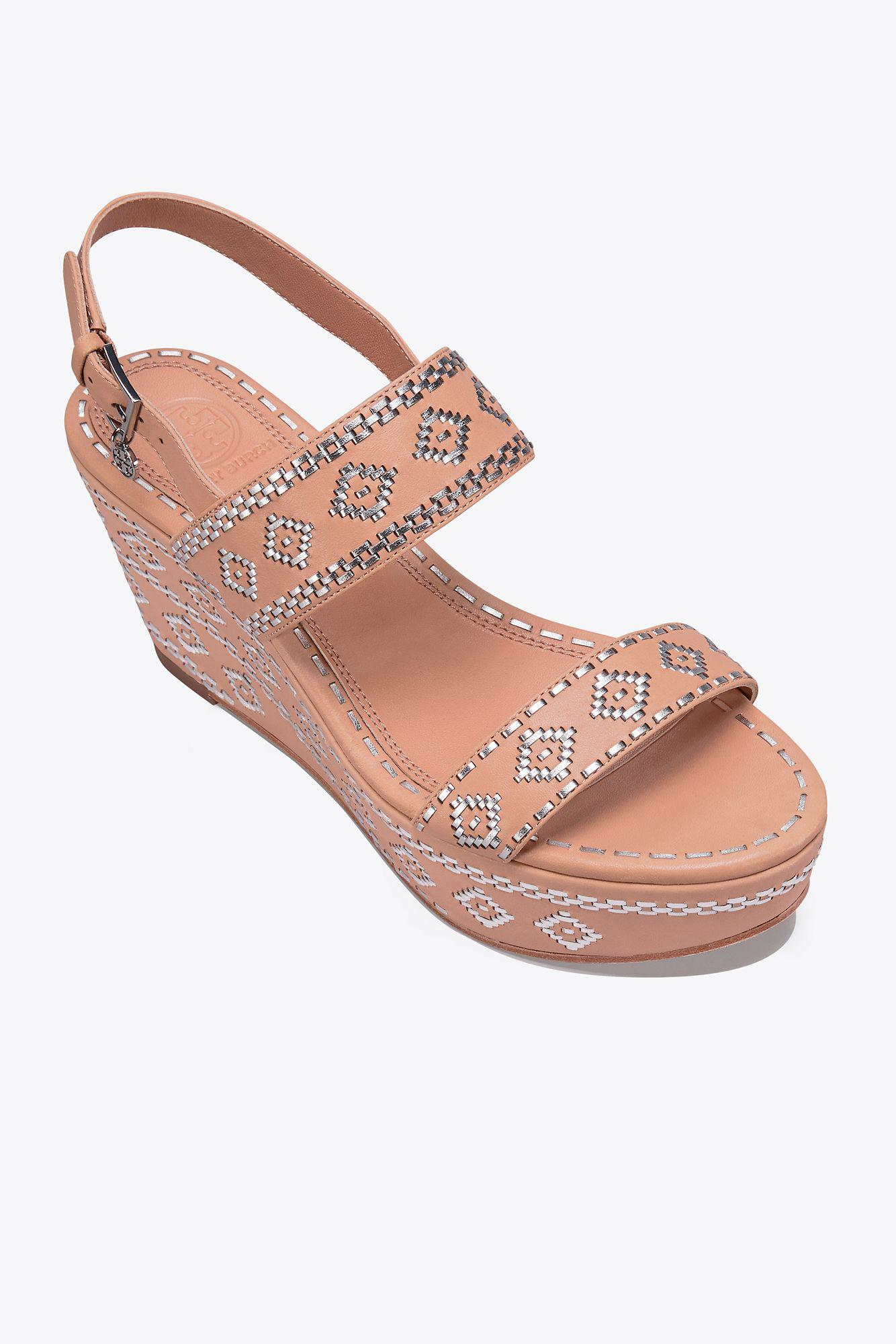 648b86b8cc7316 Lyst - Tory Burch Blake Ankle-strap Wedge Sandal
