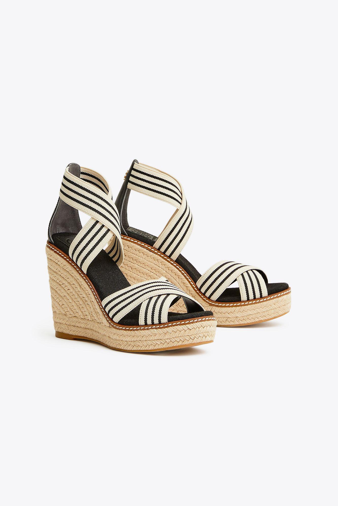 f3303a15b8b Lyst - Tory Burch Women's Frieda Platform Wedge Espadrille Sandals