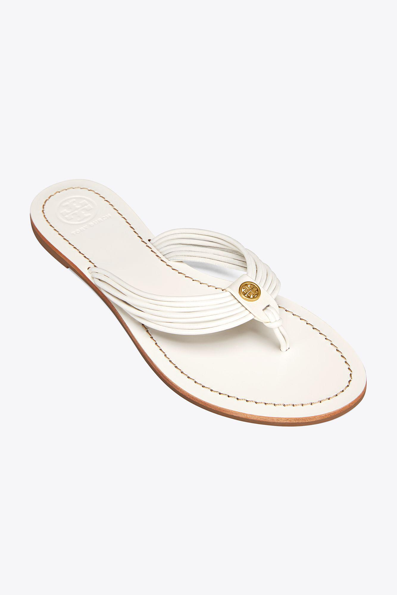 ebe9c09eb6cb Lyst - Tory Burch Sienna Flat Thong Sandal in White